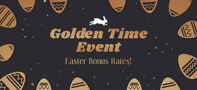 Golden Time Event: Easter Bonus Rates! | RedFox Games